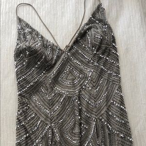 Dresses & Skirts - Sparkling grey maxi dress